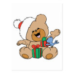 Happy Christmas Bear with Presents Postcard