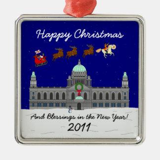 Happy Christmas - Belfast City Hall Metal Ornament