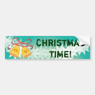 Happy Christmas Bells Bumper Sticker