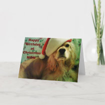 """HAPPY """"CHRISTMAS BIRTHDAY"""" TO MY MOTHER HOLIDAY CARD"""
