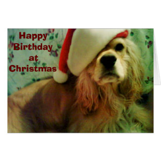 "HAPPY ""CHRISTMAS BIRTHDAY"" TO YOU CARD"