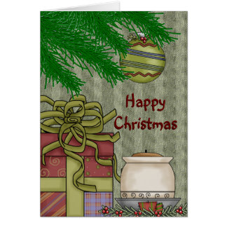 Happy Christmas Blank Greeting Card