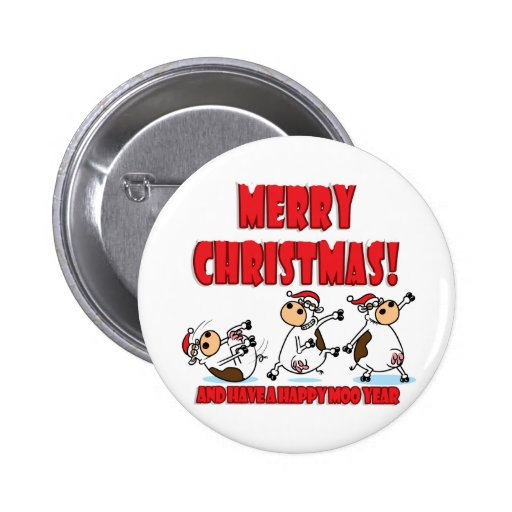 Happy Christmas Breakdancing 2 Inch Round Button