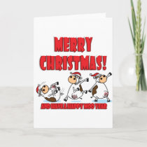 Happy Christmas Breakdancing Holiday Card