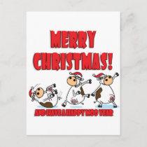 Happy Christmas Breakdancing Holiday Postcard