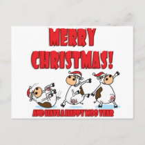 Happy Christmas Breakdancing Holiday Postcard