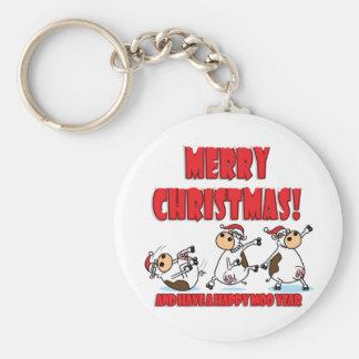 Happy Christmas Breakdancing Keychain
