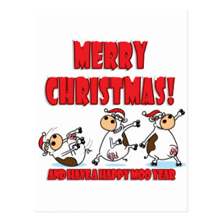 Happy Christmas Breakdancing Postcard