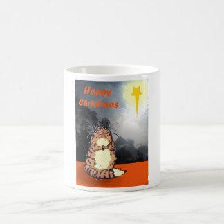Happy Christmas, Cat and Christmas star. Coffee Mug