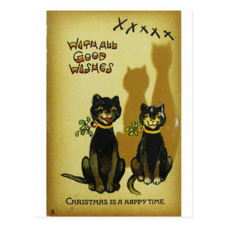 Happy Christmas Cats PostCards