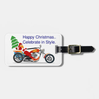 HAPPY CHRISTMAS, CELEBRATE IN STYLE BAG TAG