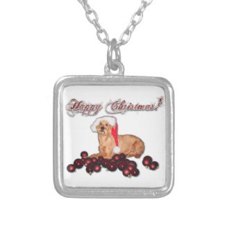 "Happy Christmas chains ""Irish Terrier "" Square Pendant Necklace"