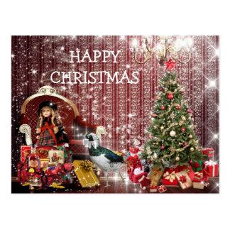 Happy Christmas Chic Fantasy Postcart Postcard