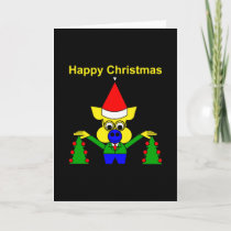 Happy Christmas - Christmas Pig Holiday Card