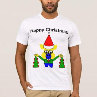 Happy Christmas - Christmas Pig T-Shirt