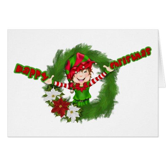 Happy Christmas Elf Card