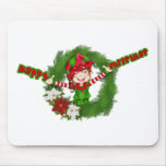 Happy Christmas Elf Mouse Pad