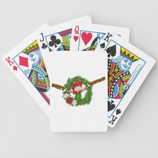 Happy Christmas Elf Poker Cards