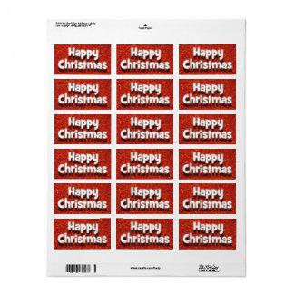 Happy Christmas Envelope/Parcel Greetings Sticker