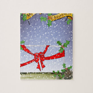 happy christmas football fans jigsaw puzzle