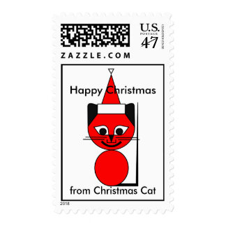 Happy Christmas - from Christmas Cat Postage