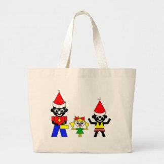 Happy Christmas from Sam's Father, Lucca and Sam Canvas Bags