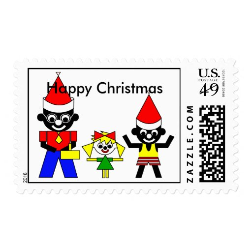 Happy Christmas from Sam's Father, Lucca and Sam Postage