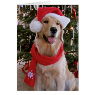 Happy Christmas Golden Greeting Card