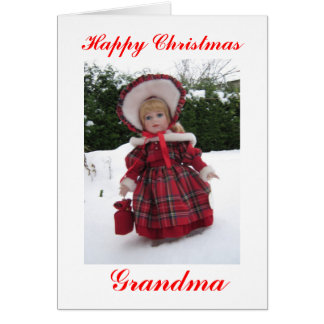 Happy Christmas Grandma Card