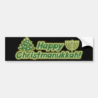 Happy Christmas hanukkah Kwanzaa Bumper Sticker