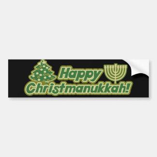 Happy Christmas hanukkah Kwanzaa Car Bumper Sticker