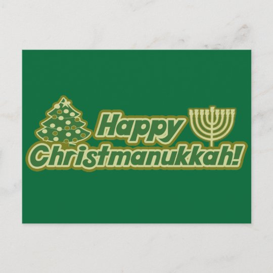 Christmas Hanukkah Kwanzaa And Other Holidays.Happy Christmas Hanukkah Kwanzaa Holiday Postcard