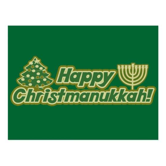 Happy Christmas hanukkah Kwanzaa Postcard