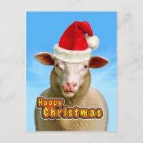 Happy Christmas Holiday Postcard