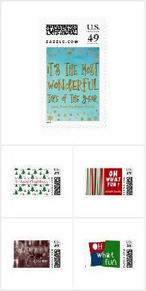 Happy Christmas Holiday Stamp Variety Pack