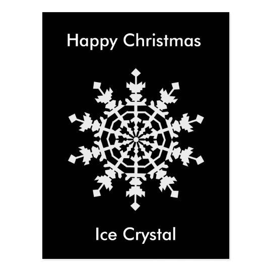 Happy Christmas - Ice Crystal Postcard