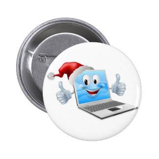 Happy Christmas laptop Pinback Button