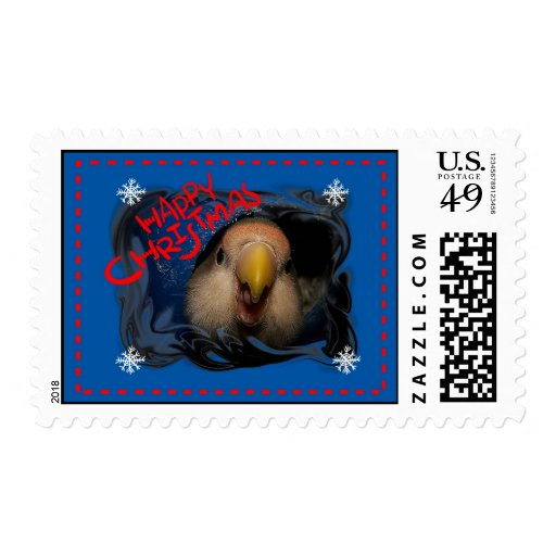 Happy Christmas Love Bird Postage