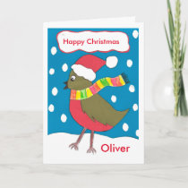 Happy Christmas Oliver card