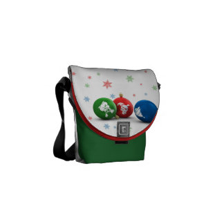 Happy Christmas Ornaments Courier Bag