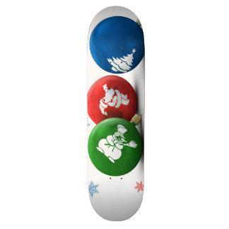Happy Christmas Ornaments Skateboard