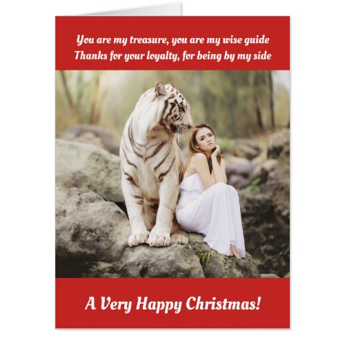 Happy Christmas oversize card Card
