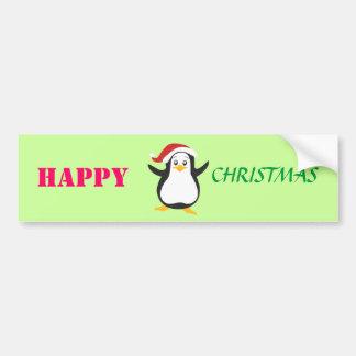 Happy christmas penguin bumper stickers