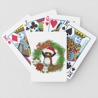 Happy Christmas Penguin Deck Of Cards