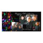 Happy Christmas Photo Card - Black Background