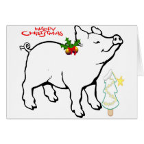 HAPPY CHRISTMAS PIGGY LET'S YOU WRITE YOUR CARD