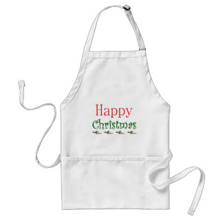Happy Christmas.png Adult Apron