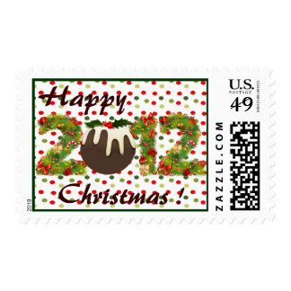 happy christmas pudding 2012 xmas postage stamp