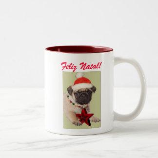 Happy Christmas! Pug Coffee Mug