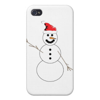 Happy Christmas Snowman Covers For iPhone 4